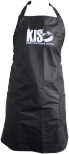 Kis Schürze schwarz mit Logo 83 x 69 cm