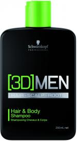 3D Men Pflege Hair & Body Shampoo 250 ml