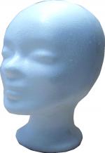 Styroporkopf weiss Kopfumfang 53 cm