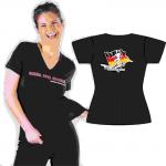 T-Shirt V-Auss. Fussball/schön... rose Gr. L