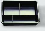 Arbeitskasten mit 3 Fächern 23x32 cm schwarz