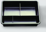 Arbeitskasten mit Fächern 23x32 cm weiß